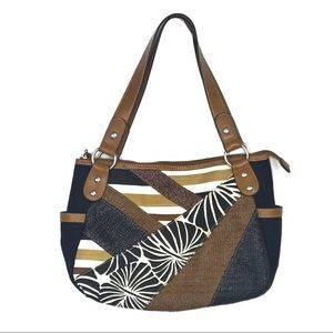 Relic Bags - Relic by Fossil Brown White Black Shoulder Bag
